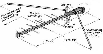 антенна дельта н381а схема подключения