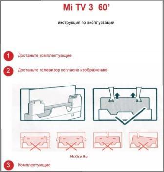 Инструкция телевизора Ксиаоми